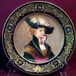 European Portrait Painting on Porcelain