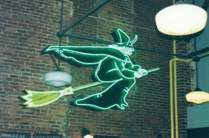 Salem witch neon sign