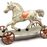 Tin Horse Pull Toy, circa 1845.
