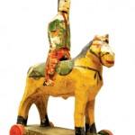 Carved Cavalryman on Horse,  1820-50, Mid-Atlantic.