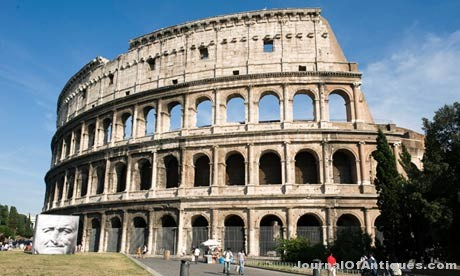 The Colosseum in Rome is leaning