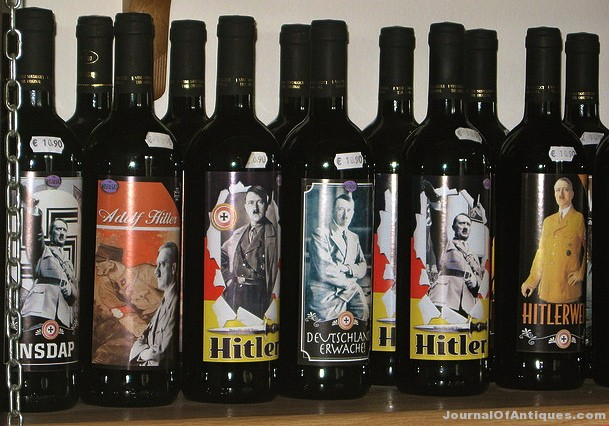 Wine showing Hitler on the bottle in Italy