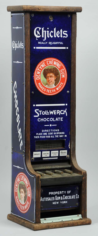 Antique vending machine, $28,200, Morphy's Auctions