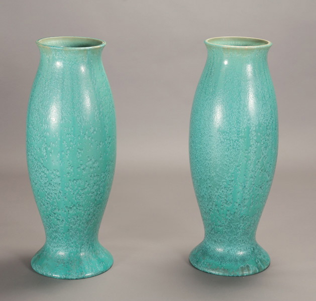 Glazed pottery urns, $12,870, Michaan's