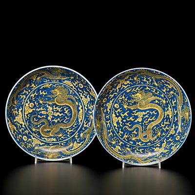 Pair of Kangxi Chargers - $274,500 at Cowan's Auctions