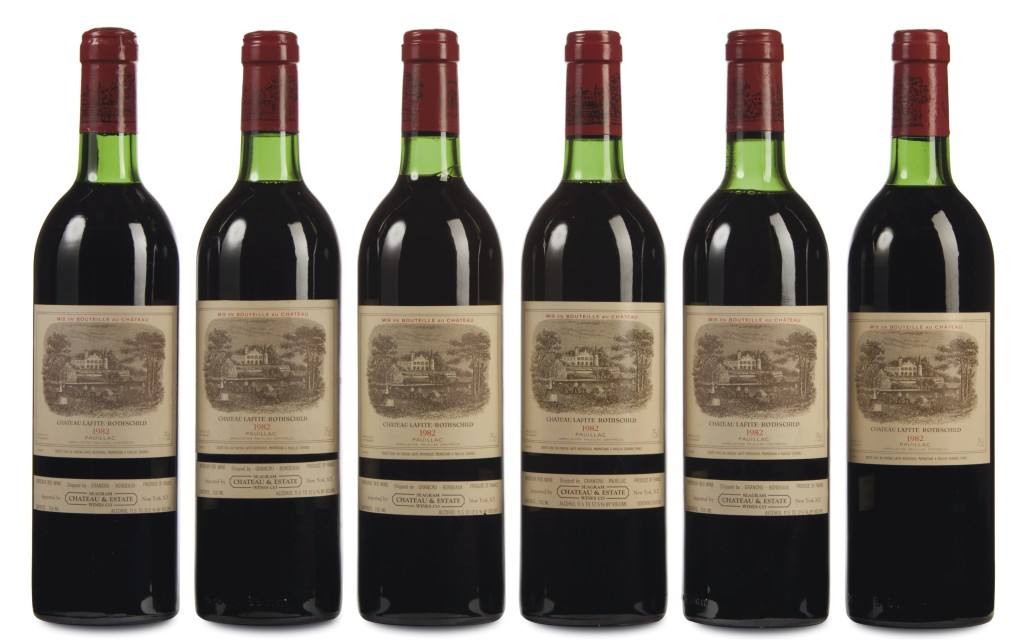 Case of vintage wine, $42,350, Christie's