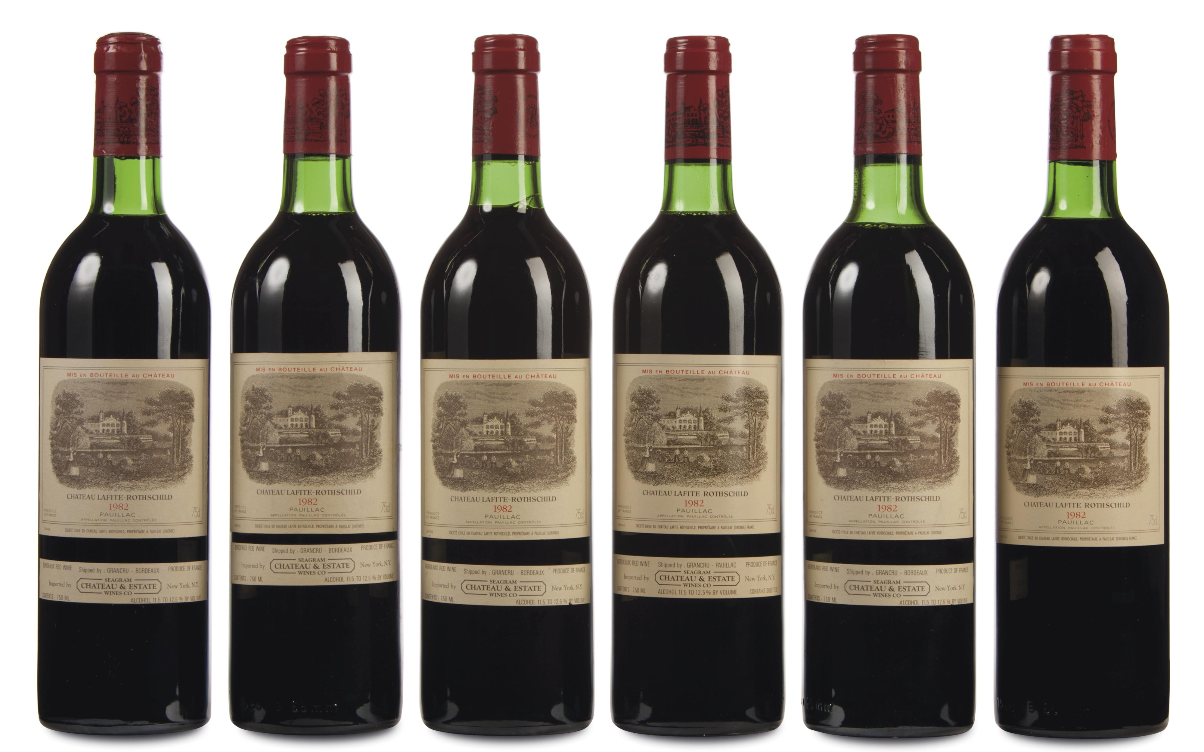 Case of vintage wine, $42,350, Christie's
