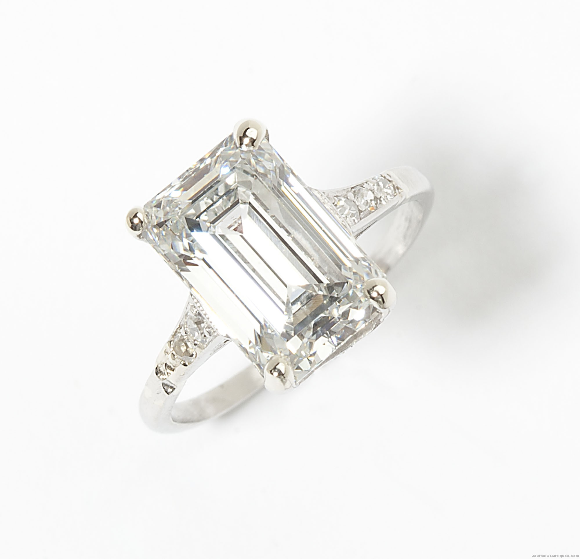 3.23-carat diamond ring, $33,600, John Moran