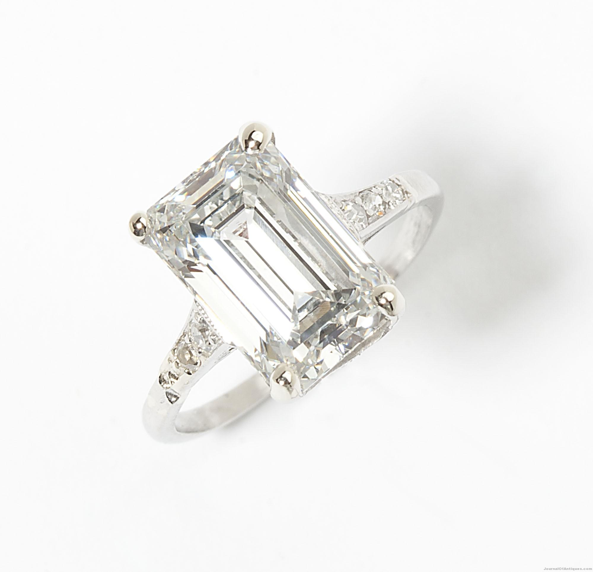 3.23-carat diamond ring, $33,600, John Moran