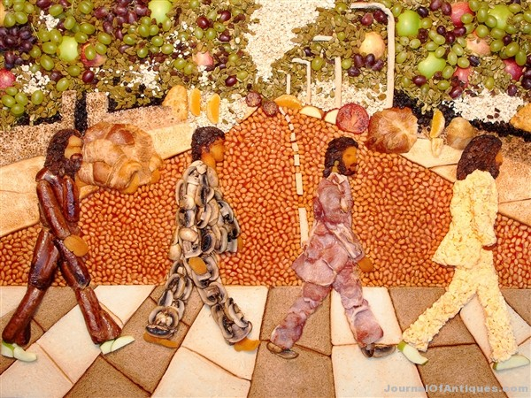 Ken's Korner: Abbey Road cover recreated from food