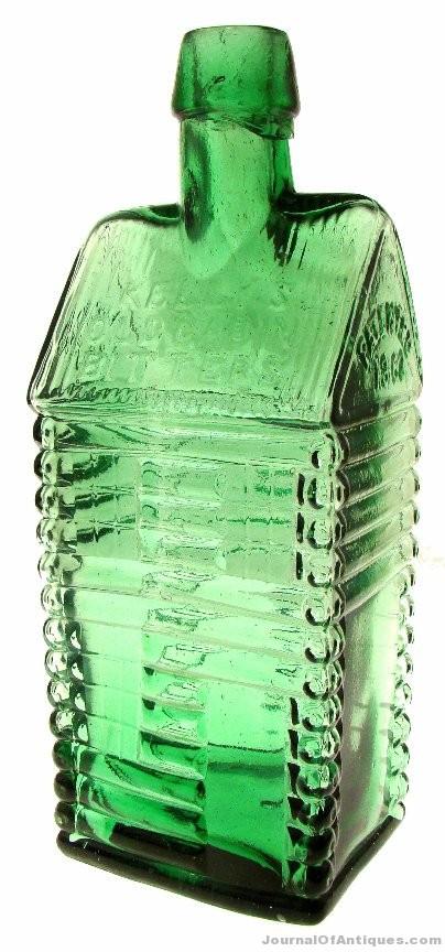 Kelly's Old Cabin bottle, $45,360, American Bottle