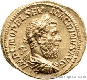 Roman gold Aureus, $203,150, Heritage