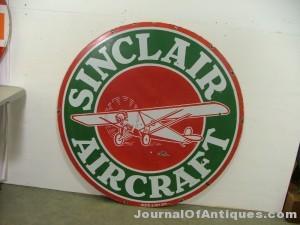Sinclair Aircraft sign, $19,800, Matthews