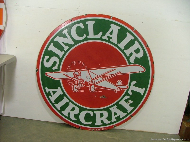Sinclair Aircraft sign, $19,800, Matthews