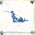 Delft tile - Man in water