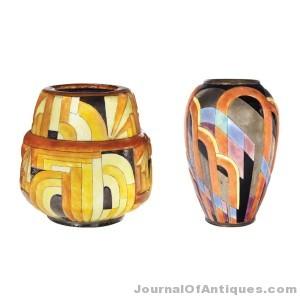 Camille Faure vases, $33,750, Doyle N.Y.