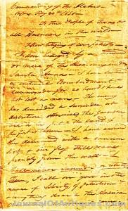 Ken's Korner: 'Victory or Death' letter at the Alamo