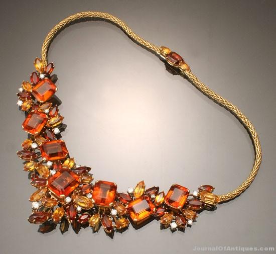 Cartier necklace, $48,000, Weschler's