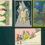 English and Italian postcards show very different styles and range from $10-$20 each.