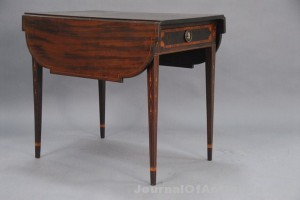 Federal mahogany table, $36,800, Nadeau's Auction