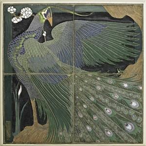 Rhead peacock tile, $637,500, Rago Arts