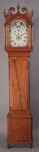Circa-1800 tall case clock, $92,000, Jeffrey S. Evans
