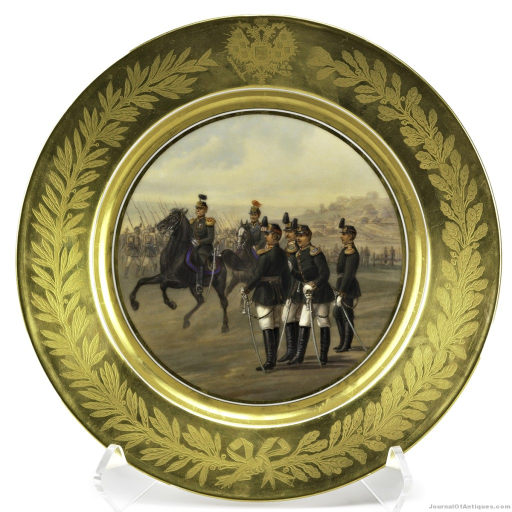 Alexander III plate, $87,500, Rago Arts
