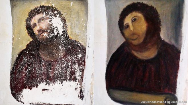 Ken's Korner: Botched restoration lady sells art on eBay