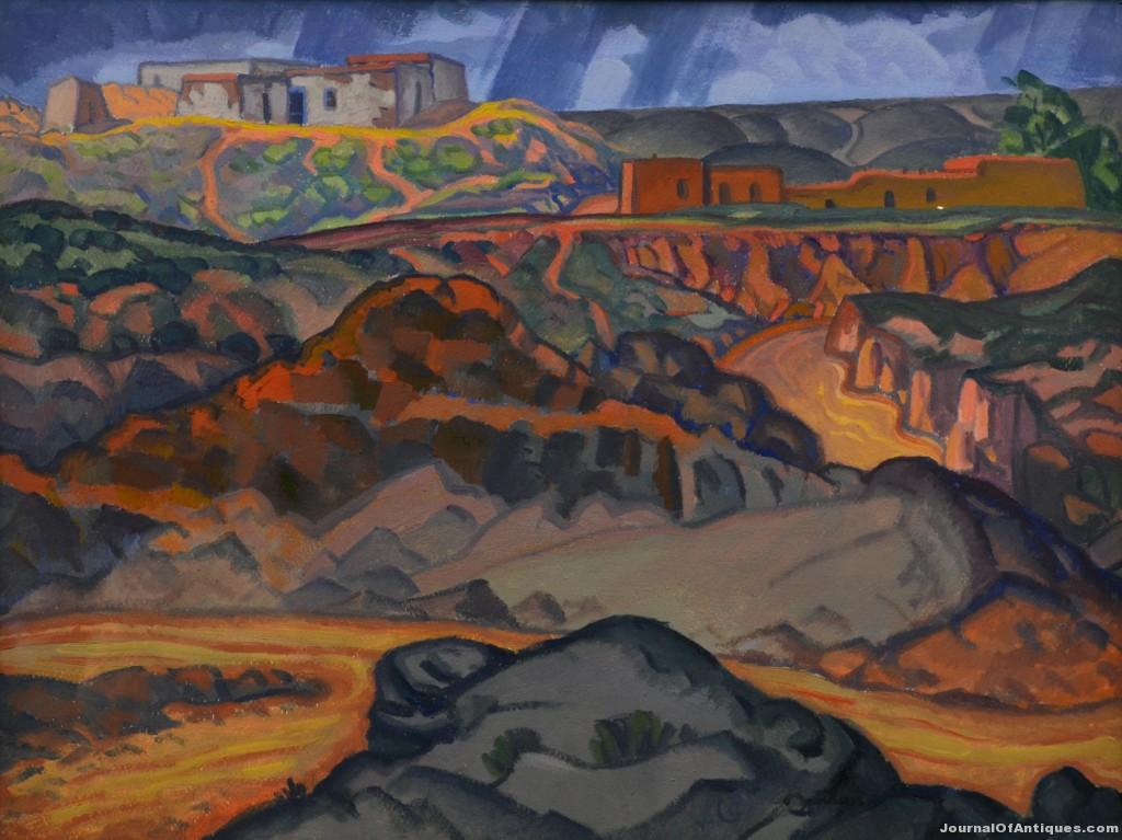 Raymond Jonson oil painting, $65,175, Clars Auction Gallery