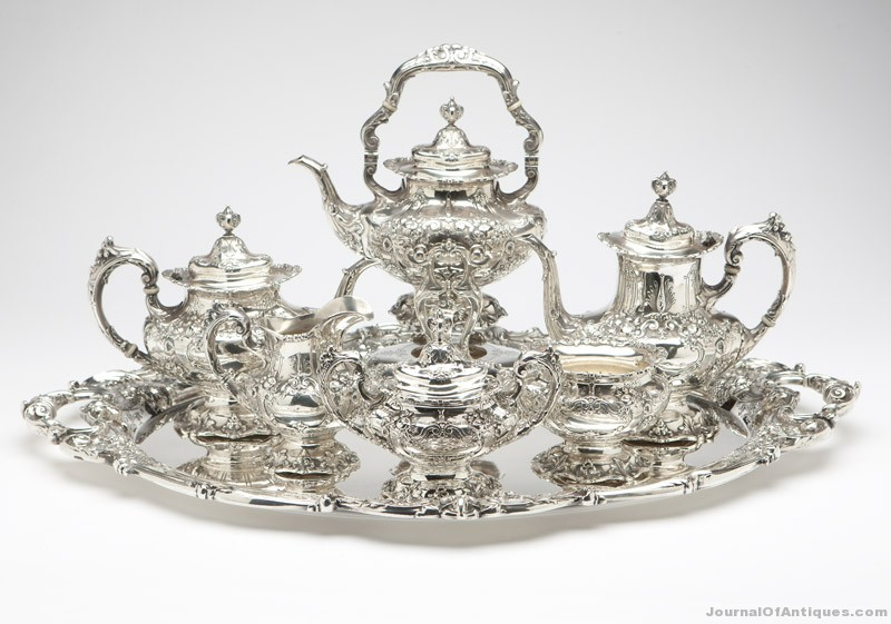 Reed & Barton tea service, $18,000, John Moran Antique