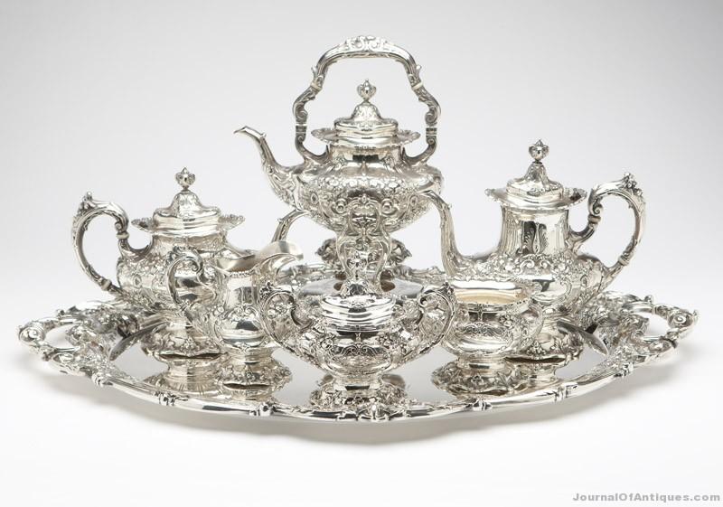 Reed & Barton tea service, $18,000, John Moran Antique