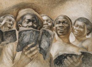 Charles White drawing, $144,000, Swann Auction