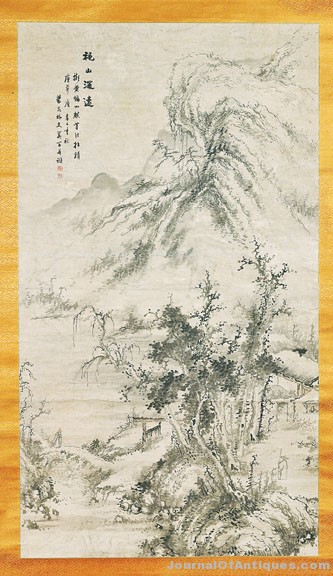 large chinese scroll painting  landscape
