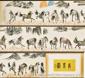 Massive Chinese Handscroll: Horses
