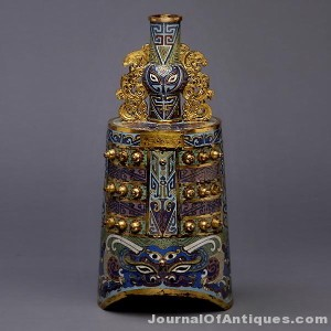 Cloisonné enameled bell, $141,600; Michaan's