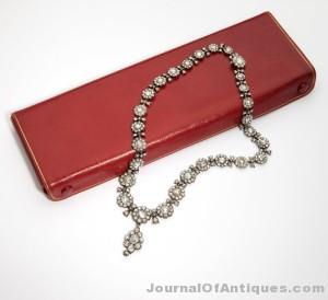 Diamond necklace, $54,000, John Moran