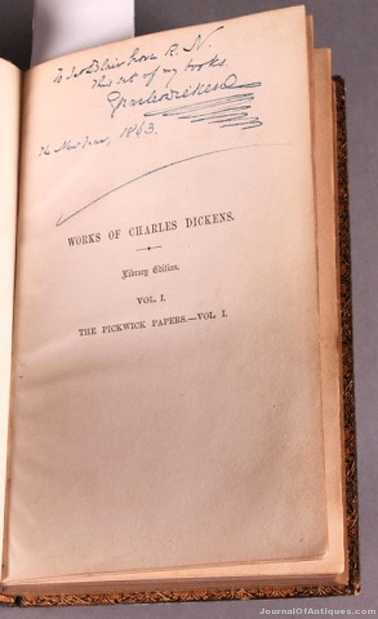 Dickens book collection, $70,800, Waverly Rare Books