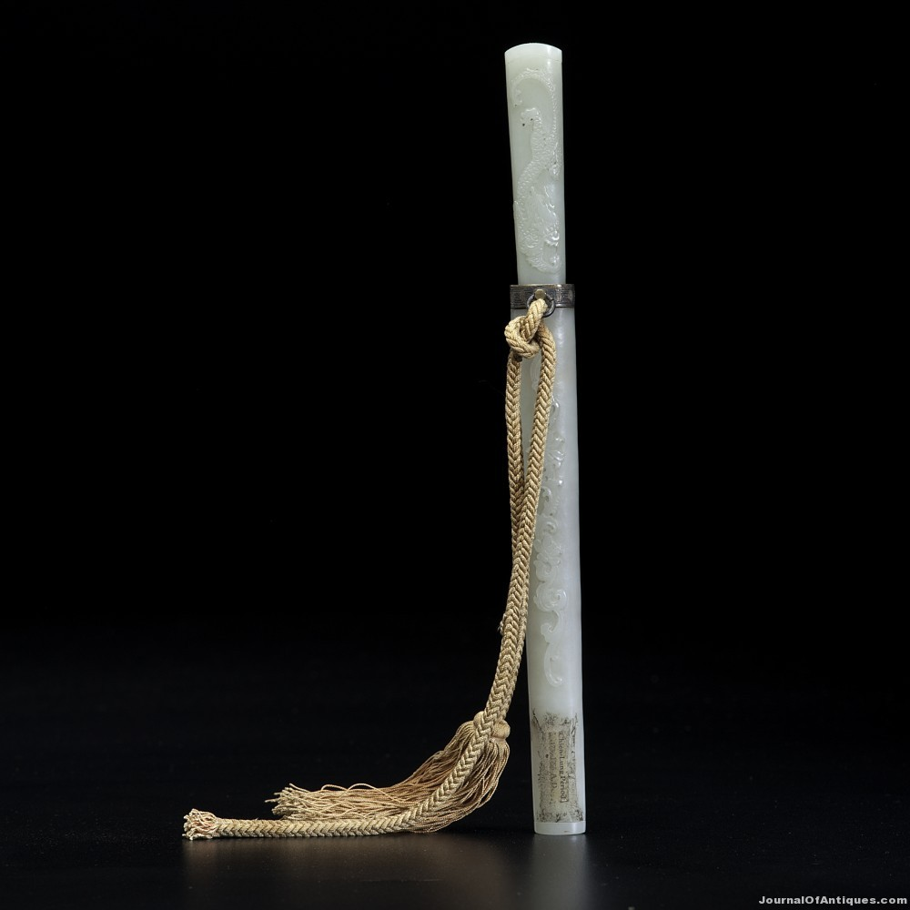Jade mounted knife, $114,000, Cowan's