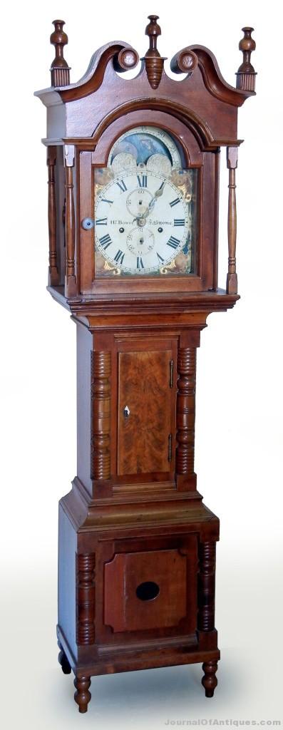 Miniature tall case clock, $31,625, Stephenson's