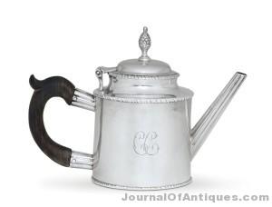 Paul Revere tea pot, $230,500, Christie's