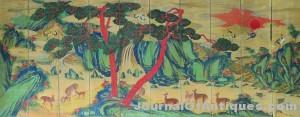 Asian longevity screen, $603,750, James D. Julia