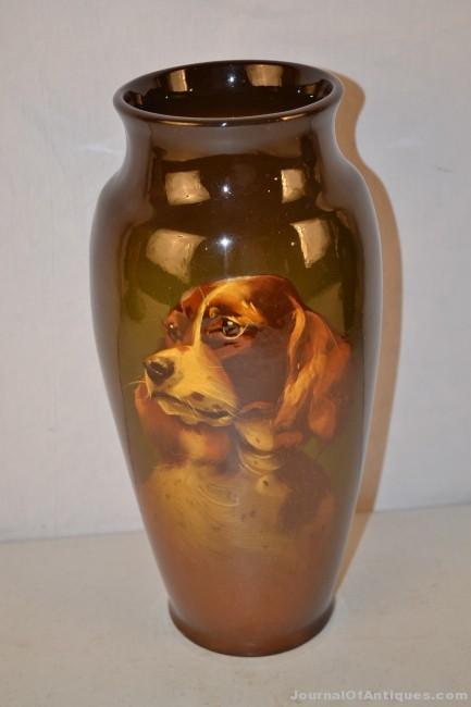 Standard glaze portrait vase, $2,640, Matthews Auctions