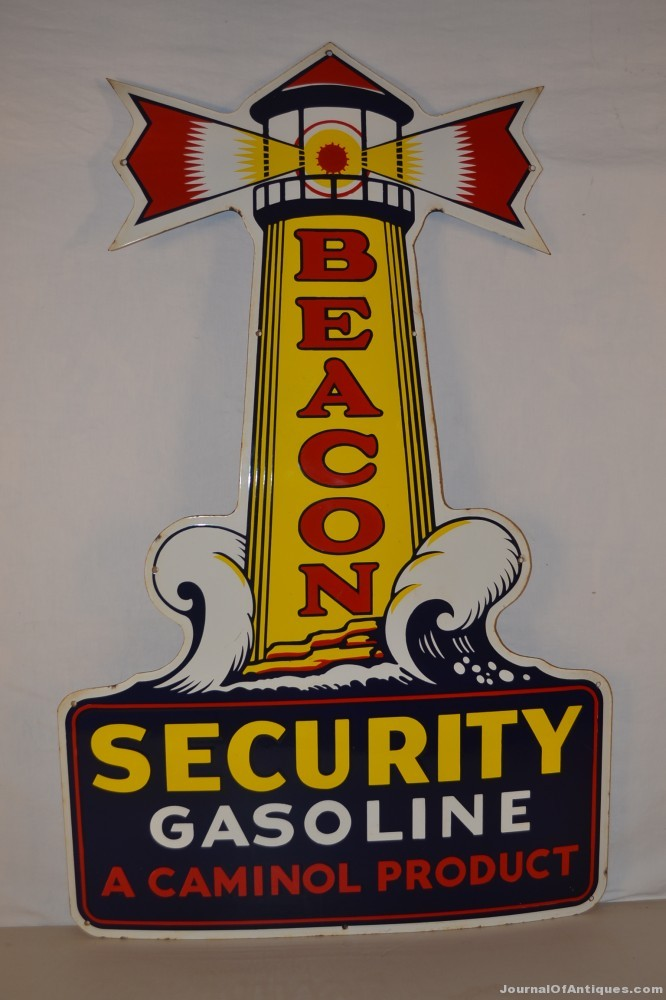 Beacon die-cut sign, $55,000, Matthews
