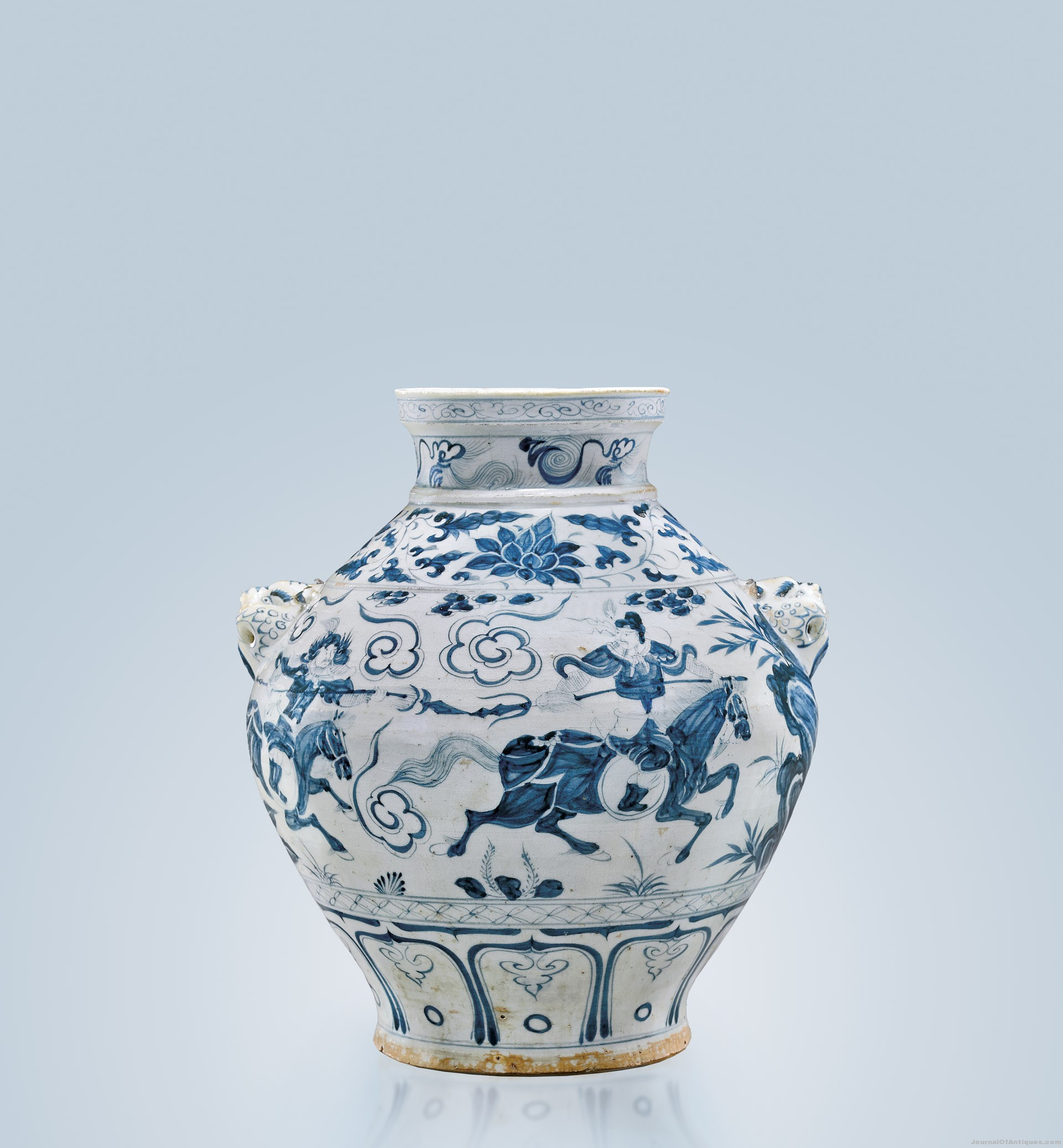 Yuan Dynasty porcelain jar, $1.324 million, I. M. Chait