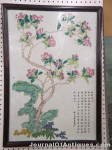 Chinese porcelain plaque, $6,329, Richard D. Hatch