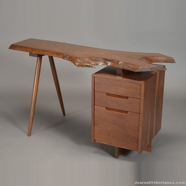 Nakashima free-edge desk, $10,030, Michaan's Auctions