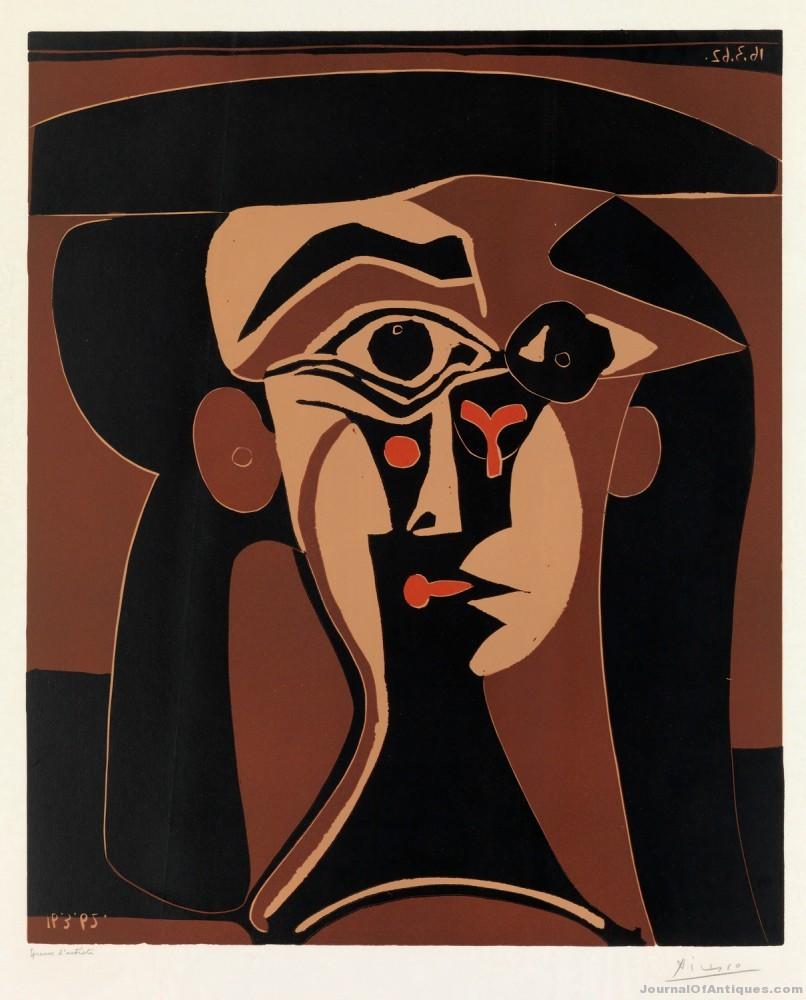 Picasso's Tete de Femme, $48,000, Swann Auction
