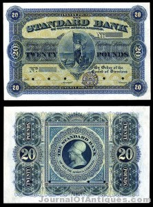South African banknote, $10,620, Archives Int'l