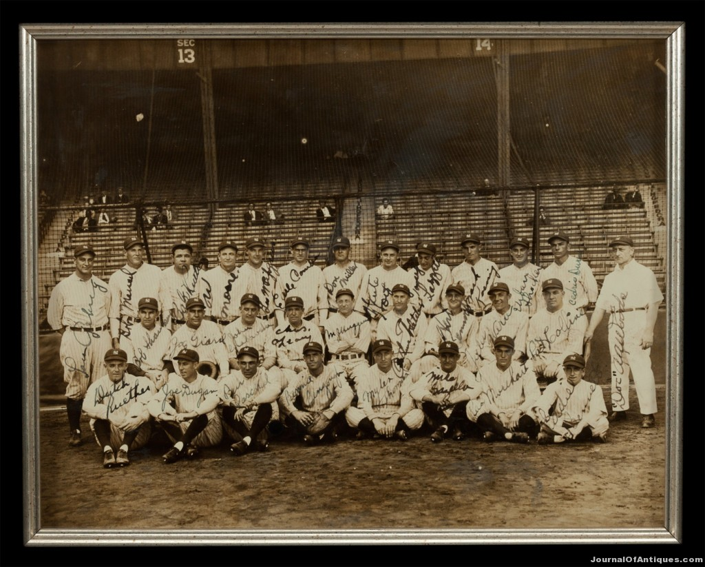 1927 Yankees team photo, $275,706; SCP Auctions