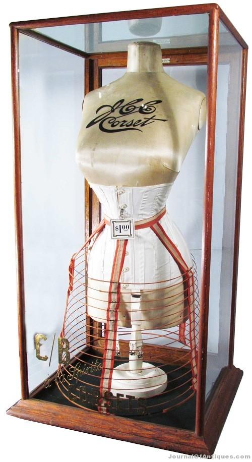 Antique corset display, $17,100, Showtime Auction